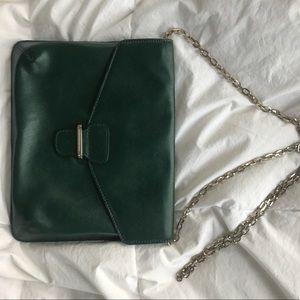 GREEN CLUTCH/OVER THE SHOULDER BANANA REPUBLIC BAG